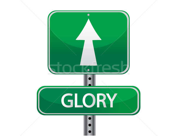 glory street sign isolated over a white background Stock photo © alexmillos