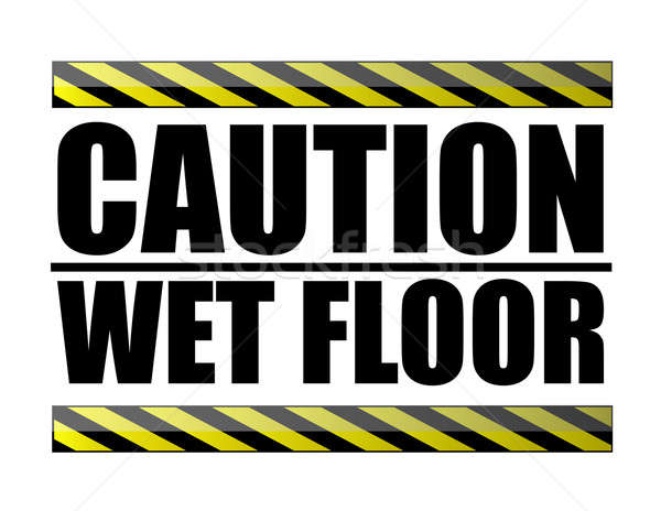 Caution wet floor Stock photo © alexmillos