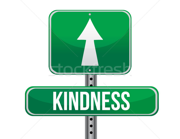 Stock photo: kindness road sign illustration design over a white background