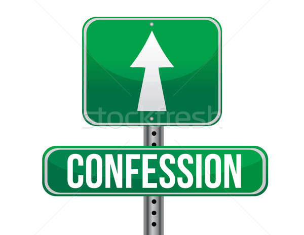 confession sign illustration design over a white background Stock photo © alexmillos