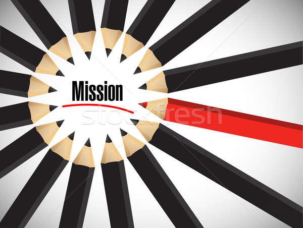 миссия слово вокруг набор цветами иллюстрация Сток-фото © alexmillos