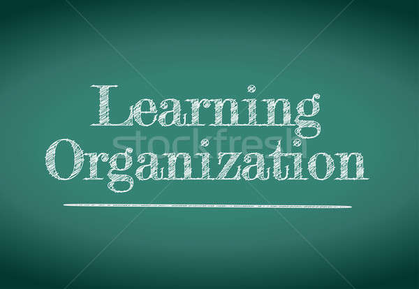learning organization illustration design over a blackboard Stock photo © alexmillos