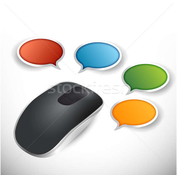 Komunikacji przewodnik ilustracja projektu biały Zdjęcia stock © alexmillos