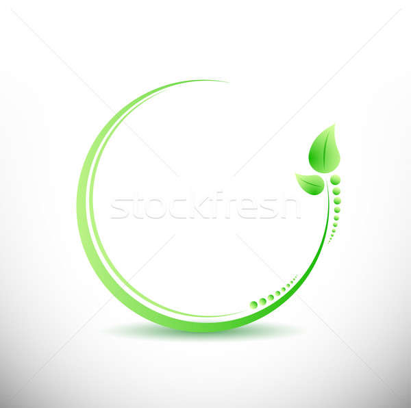 fitness business yoga symbol illustration design over white Stock photo © alexmillos