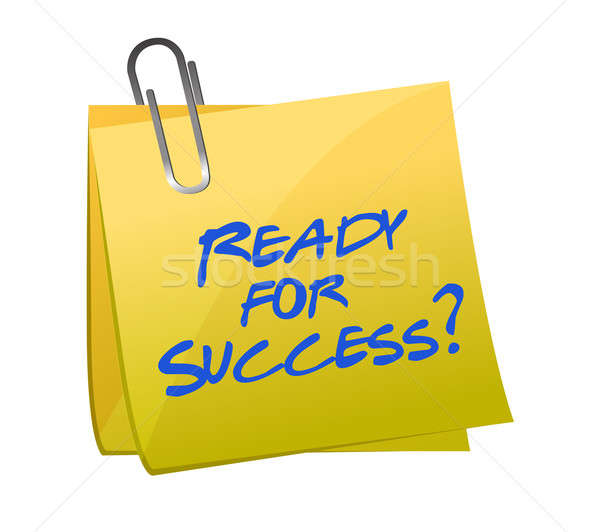 ready for success question on a post illustration design Stock photo © alexmillos