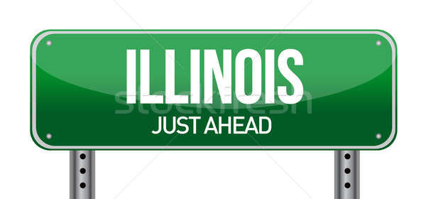 Illinois Road Sign Stock photo © alexmillos