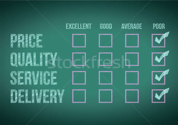 evaluate customer survey form illustration design over a white b Stock photo © alexmillos