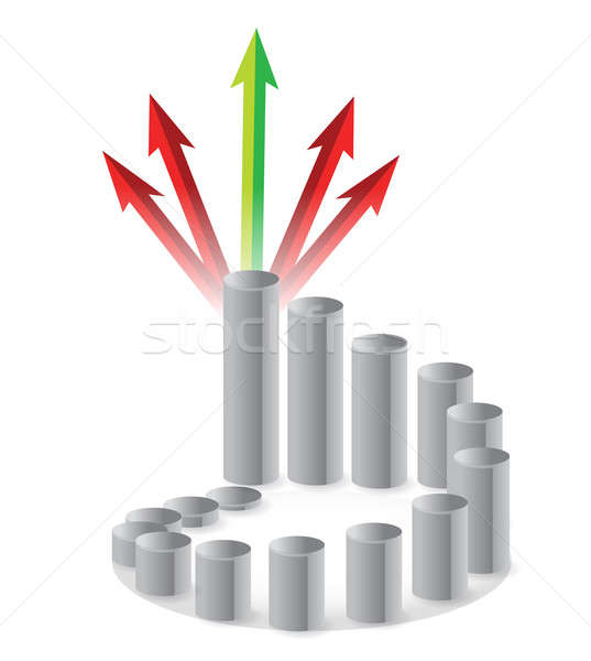 Grafikon nyilak terv bár pénzügy siker Stock fotó © alexmillos