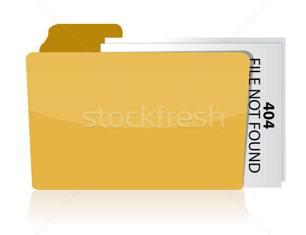files not found error illustration design over white Stock photo © alexmillos
