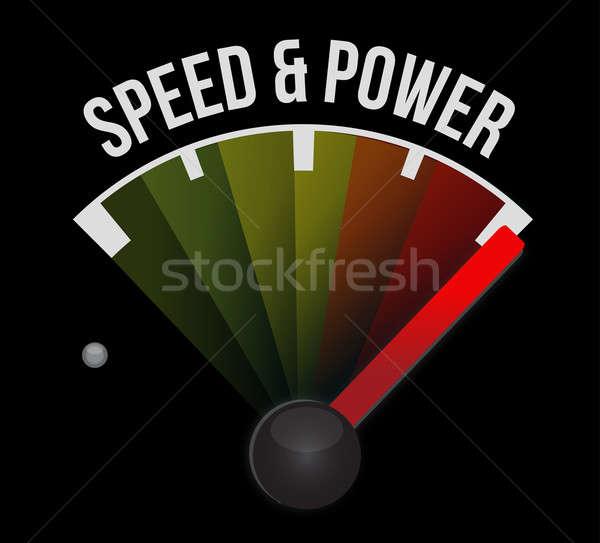 Speed and power concept speedometer Stock photo © alexmillos