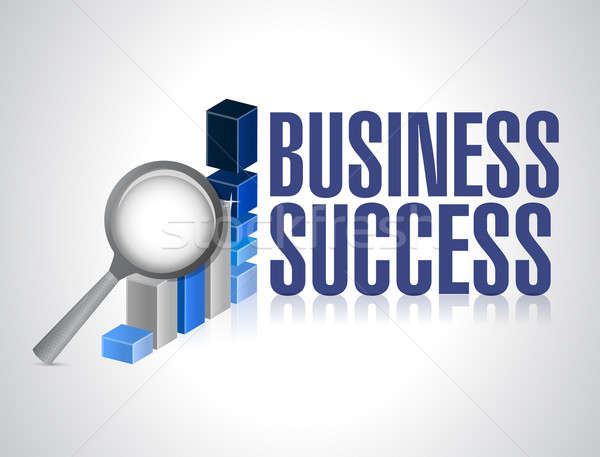 Business success under review illustration Stock photo © alexmillos