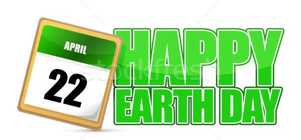 Föld napja naptár 22 földgömb absztrakt terv Stock fotó © alexmillos