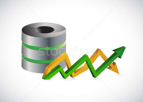 server and up and down arrow business graph Stock photo © alexmillos