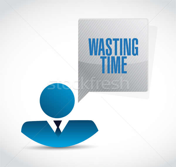 Wasting time businessman sign concept Stock photo © alexmillos