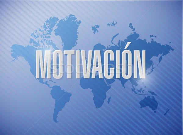 Motivation sign in Spanish concept illustration Stock photo © alexmillos