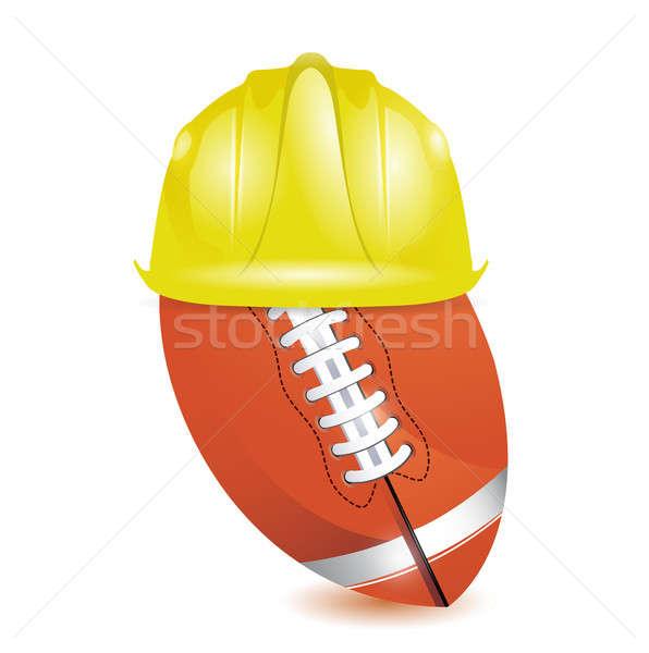 football training. under construction Stock photo © alexmillos