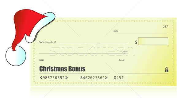 クリスマス ボーナス チェック 実例 デザイン 赤 ストックフォト © alexmillos