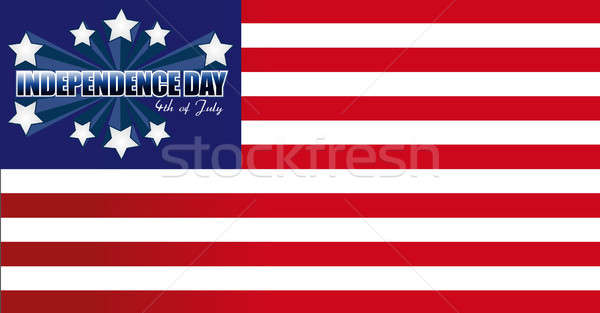 Independence Day card or background. July 4. Stock photo © alexmillos
