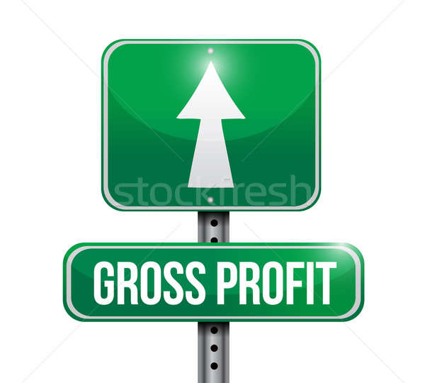 gross profit road sign illustrations design over white Stock photo © alexmillos