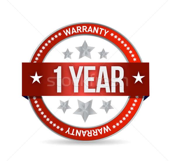 Une année garantie sceau illustration design Photo stock © alexmillos