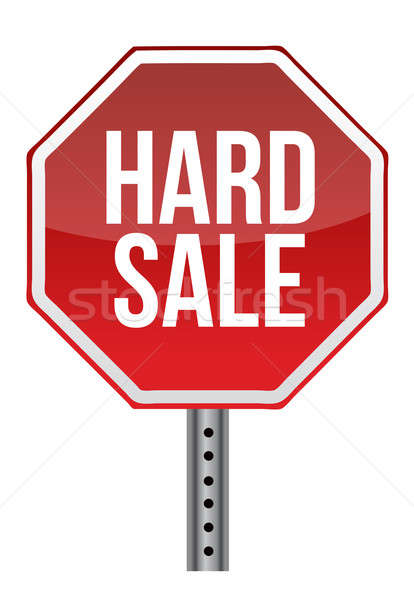hard sale sign illustration design over white Stock photo © alexmillos