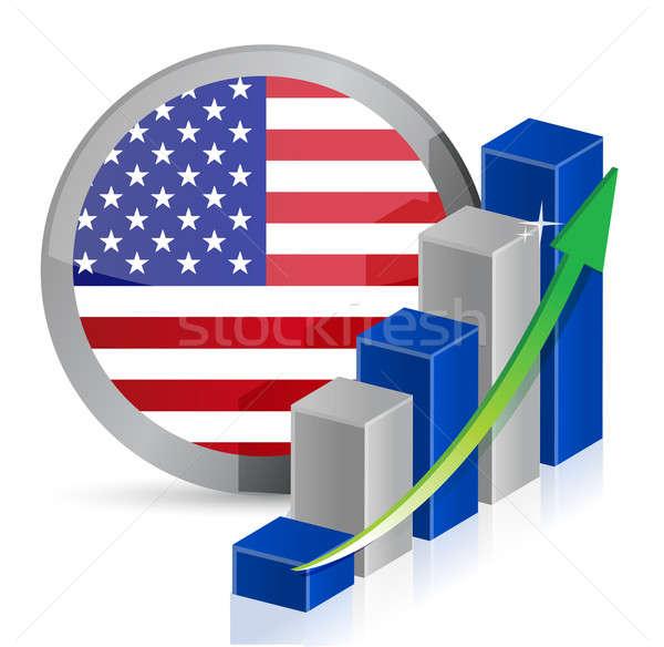 Stockfoto: Business · illustratie · ontwerp · witte · financieren · corporate