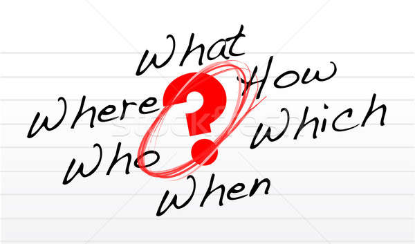 question concept illustration on a notepad paper Stock photo © alexmillos