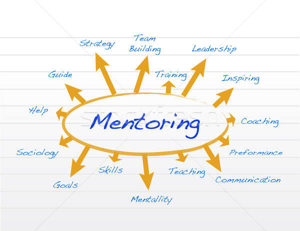 Mentoring model diagram illustration design Stock photo © alexmillos