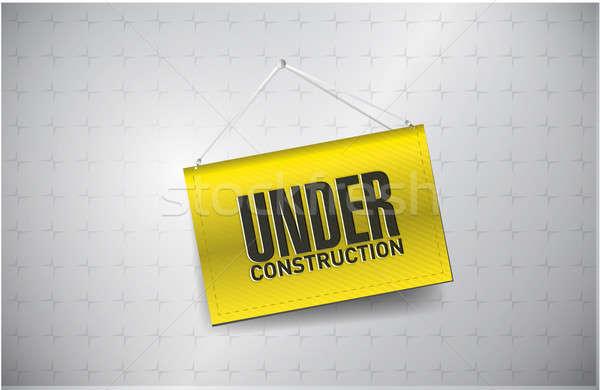 Stock fotó: építkezés · felirat · mintázott · háttér · ipari · tábla