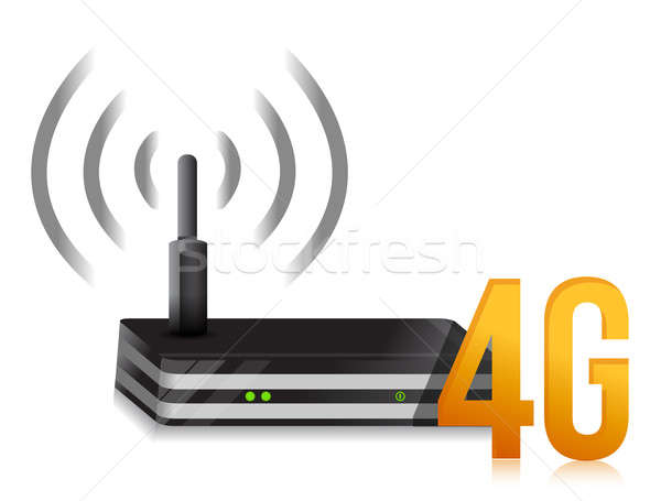 4g symbole internet routeur illustration design Photo stock © alexmillos