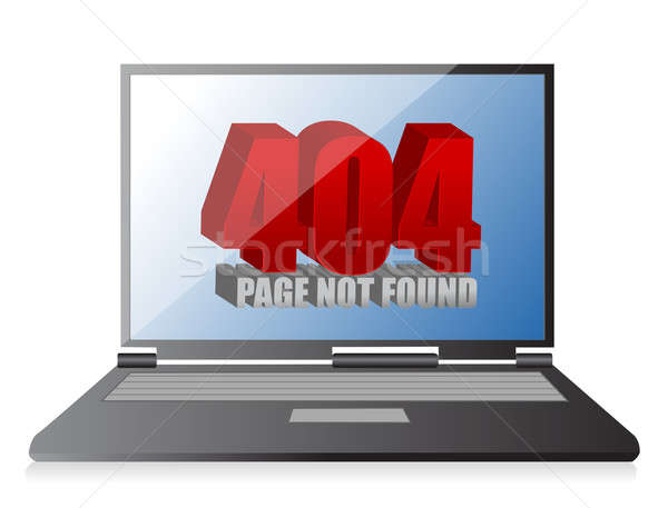 404 fout laptop technologie veiligheid mobiele Stockfoto © alexmillos