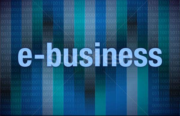 Numérique affaires argent fond bleu équipe Photo stock © alexmillos