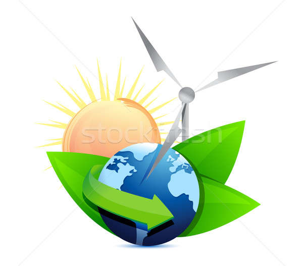 Renewal energy globe concept  Stock photo © alexmillos