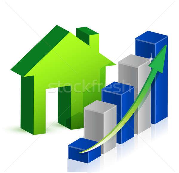 Huis markt business home financieren corporate Stockfoto © alexmillos