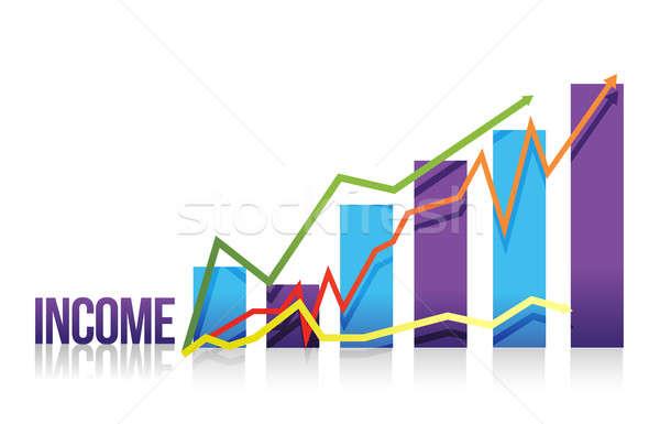 Income colorful graph illustration  Stock photo © alexmillos