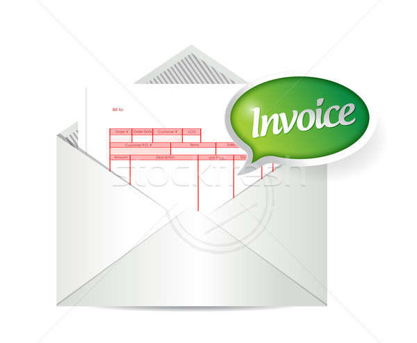 Invoice inside an envelope. illustration design  Stock photo © alexmillos