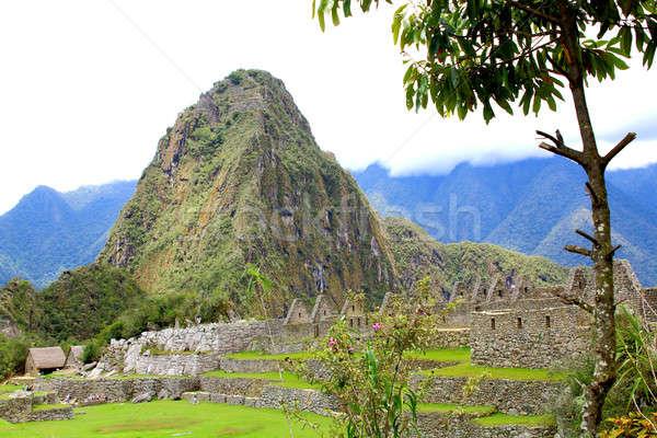 Ancient Incan city of Machu Picchu, Peru Stock photo © alexmillos