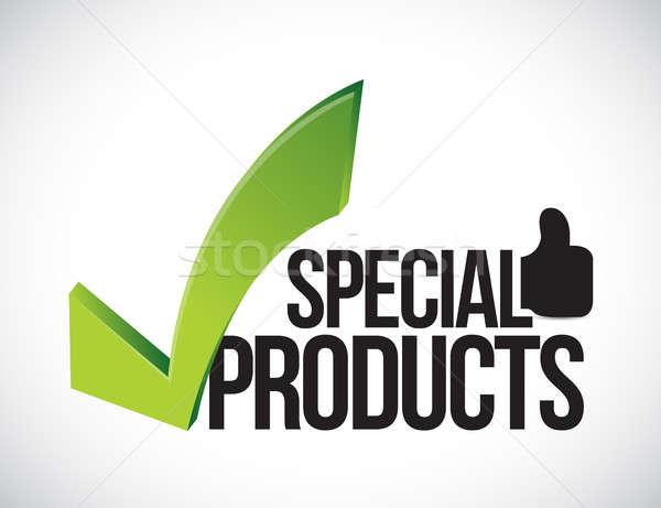 Különleges termékek elismert illusztráció grafikus izolált Stock fotó © alexmillos