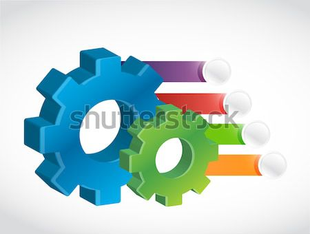 industrial business profits concept illustration Stock photo © alexmillos