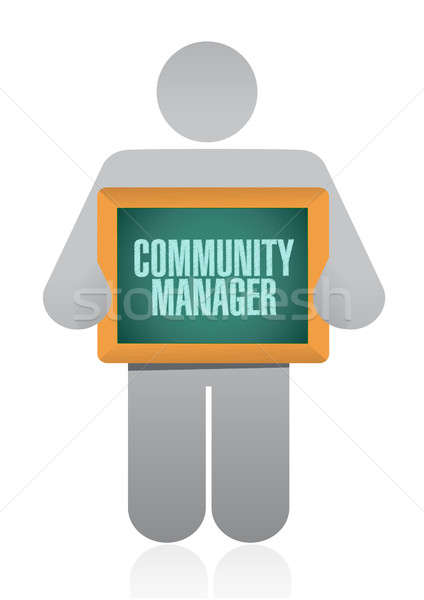 Community Manager approval sign concept Stock photo © alexmillos
