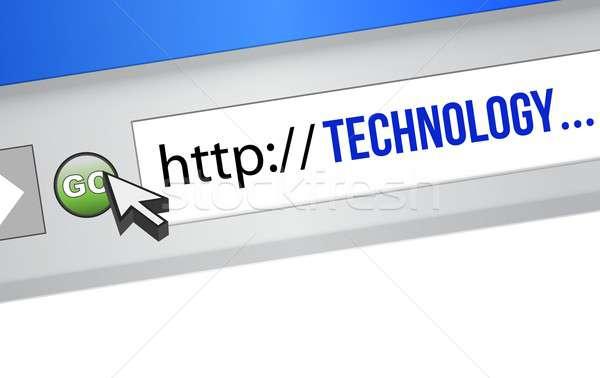 Technológia url fonal illusztráció terv fehér Stock fotó © alexmillos