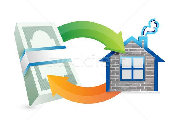 Residencia ciclo ilustración diseno blanco negocios Foto stock © alexmillos