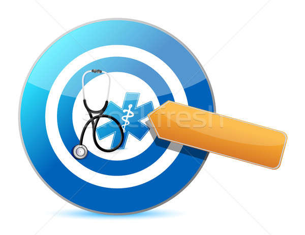 target good health concept with a Stethoscope Stock photo © alexmillos