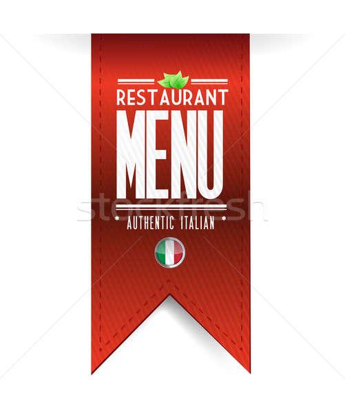 Ristorante italiano texture banner illustrazione bianco carta Foto d'archivio © alexmillos