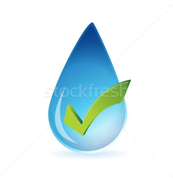 Tiszta víz jóváhagyás illusztráció terv fehér siker Stock fotó © alexmillos