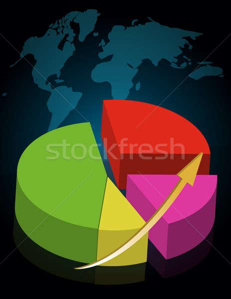 Colorful success pie chart Stock photo © alexmillos