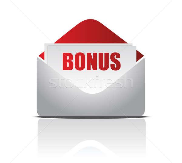 Stockfoto: Bonus · mail · illustratie · ontwerp · witte · computer