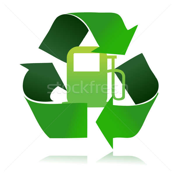 eco fuel recycle illustration design over a white background Stock photo © alexmillos