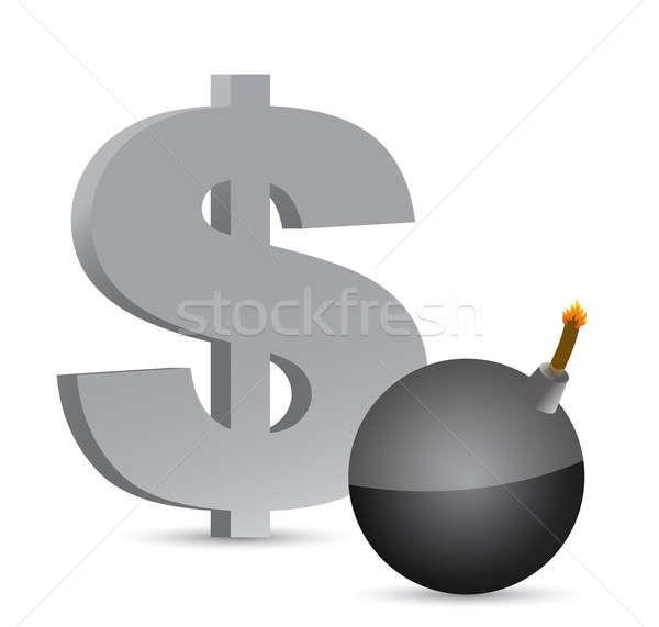 爆発的 ドル 利益 シンボル 実例 デザイン ストックフォト © alexmillos