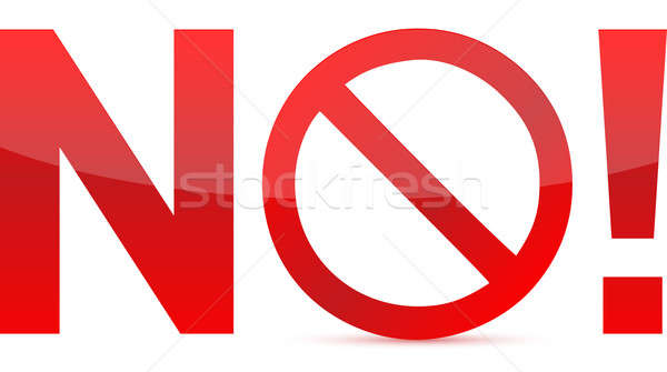 Stock photo: No/Not Allowed Sign illustration design isolated over a white ba